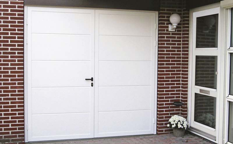 Porte de garage battante novoferm paris home garde protection point fort - Novoferm porte de garage ...