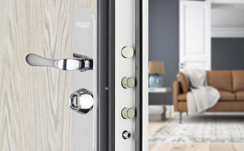 Porte blind e picard pour appartement home garde protection point fort fichet paris - Porte blindee 3 points ...