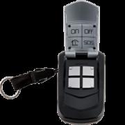 Télécommande 4 fonctions à retour d'information alarme et automatisme