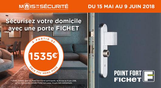700 Euros de remises sur les portes blindées Fichet à Paris
