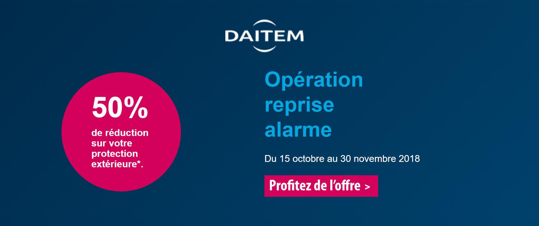 Opération reprise alarme du 15 octobre au 30 novembre 2018