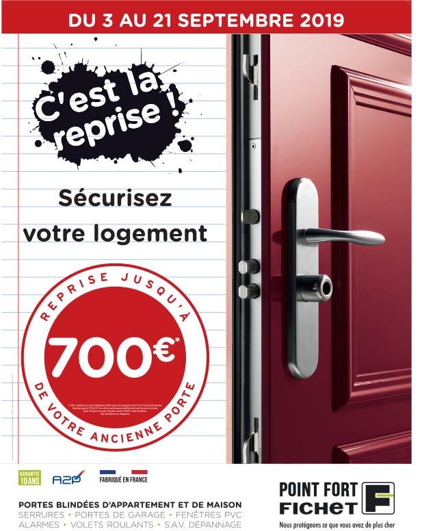 Jusqu'à 700 euros de remise sur les portes blindées Fichet