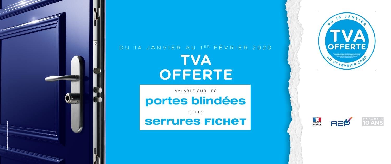 TVA offerte sur les portes blindées Fichet et Serrures Fichet à Paris