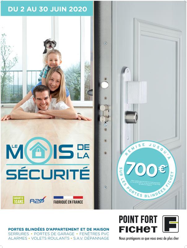 jusqu'à 700 EUR de remises sur les portes blindées Fichet à Paris