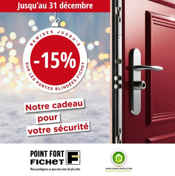 15 % de remise sur les portes blindées Fichet à Paris